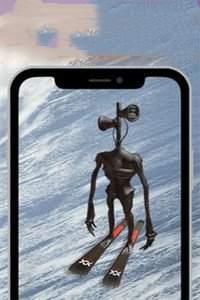 警笛头雪地滑雪游戏